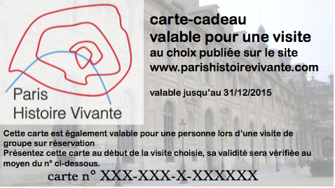 Carte Cadeau Visite Guidee Paris